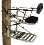 Equalizer Levleing Treestand with Adjustable Back Rest